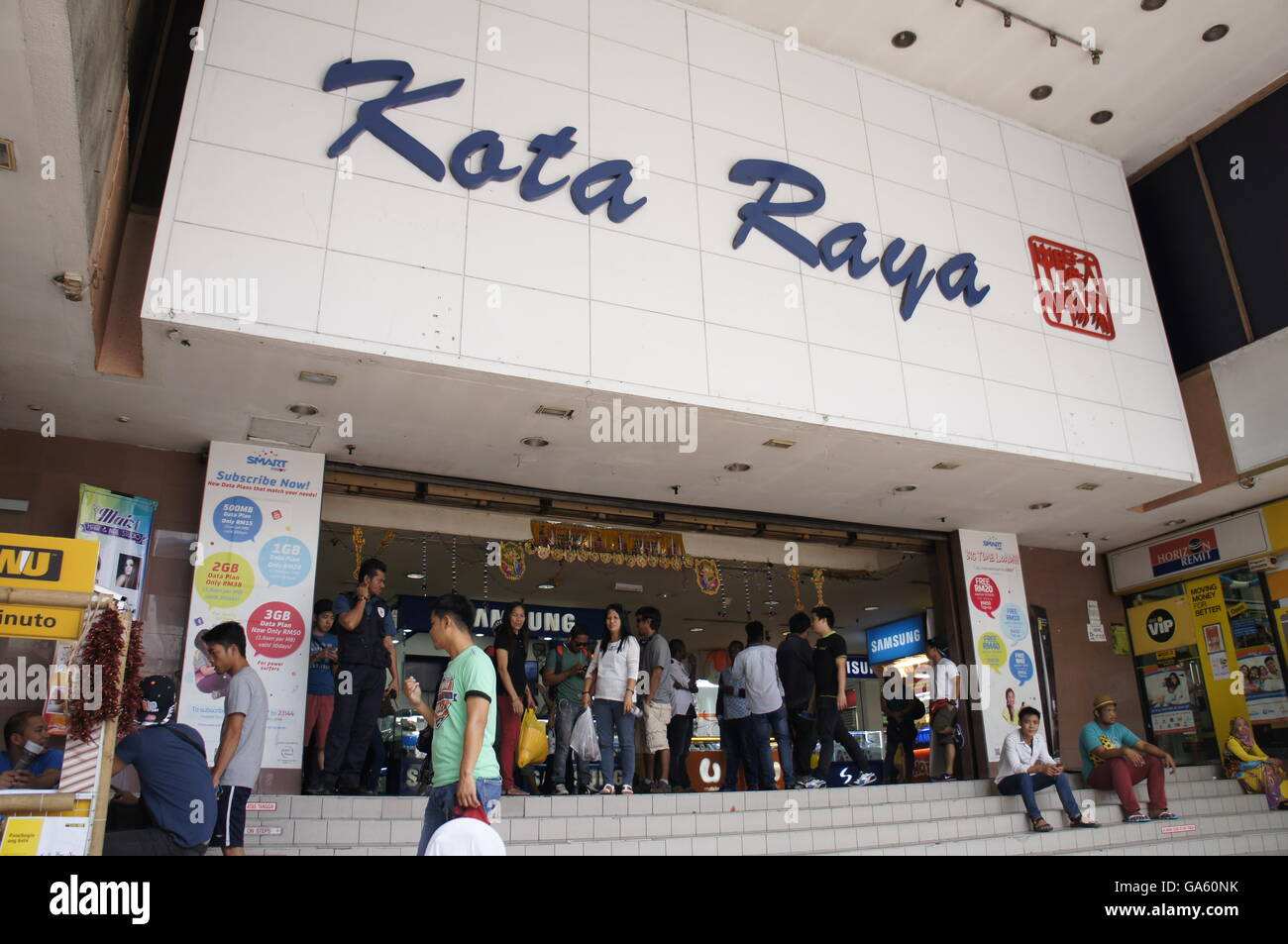 entrance of Kota Raya shopping complex in Kuala Lumpur. Popular hangout for Filipinos and other foreign  migrant - Stock Image