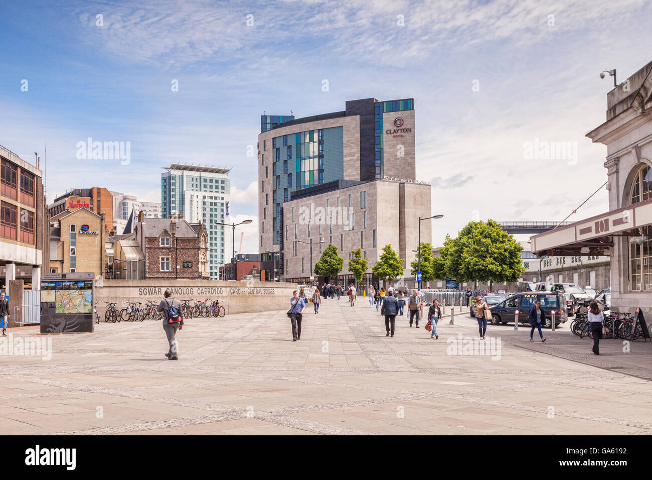 Cardiff, Wales: 27 June 2016 - Cardiff Central Square. - Stock Image