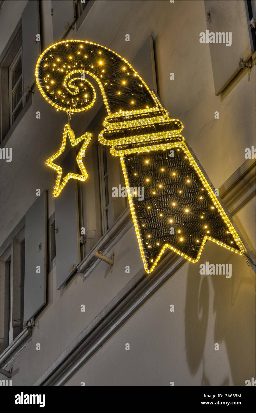 Baslerstab X-Mas Decoration - Stock Image