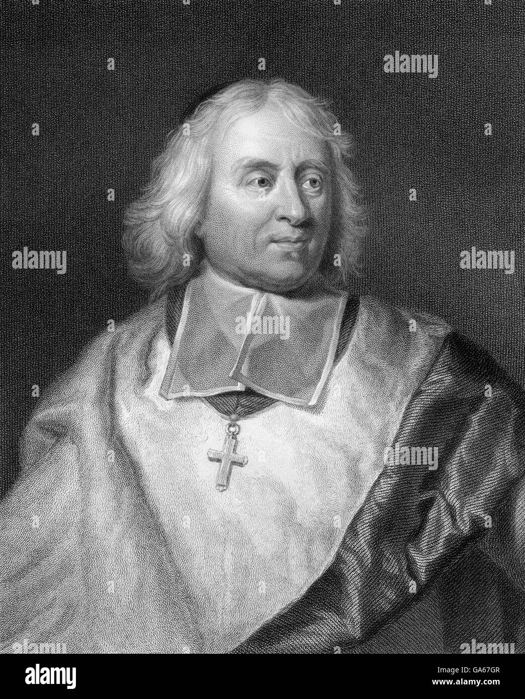 Jacques-Bénigne Bossuet, 1627-1704, a French bishop and theologian - Stock Image