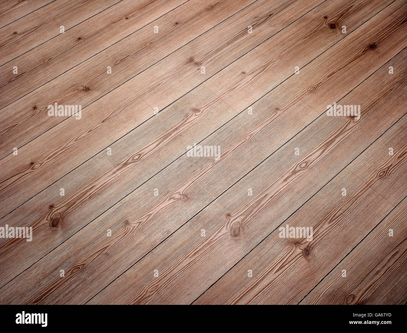Wood flooring with diagonal boards. Stock Photo
