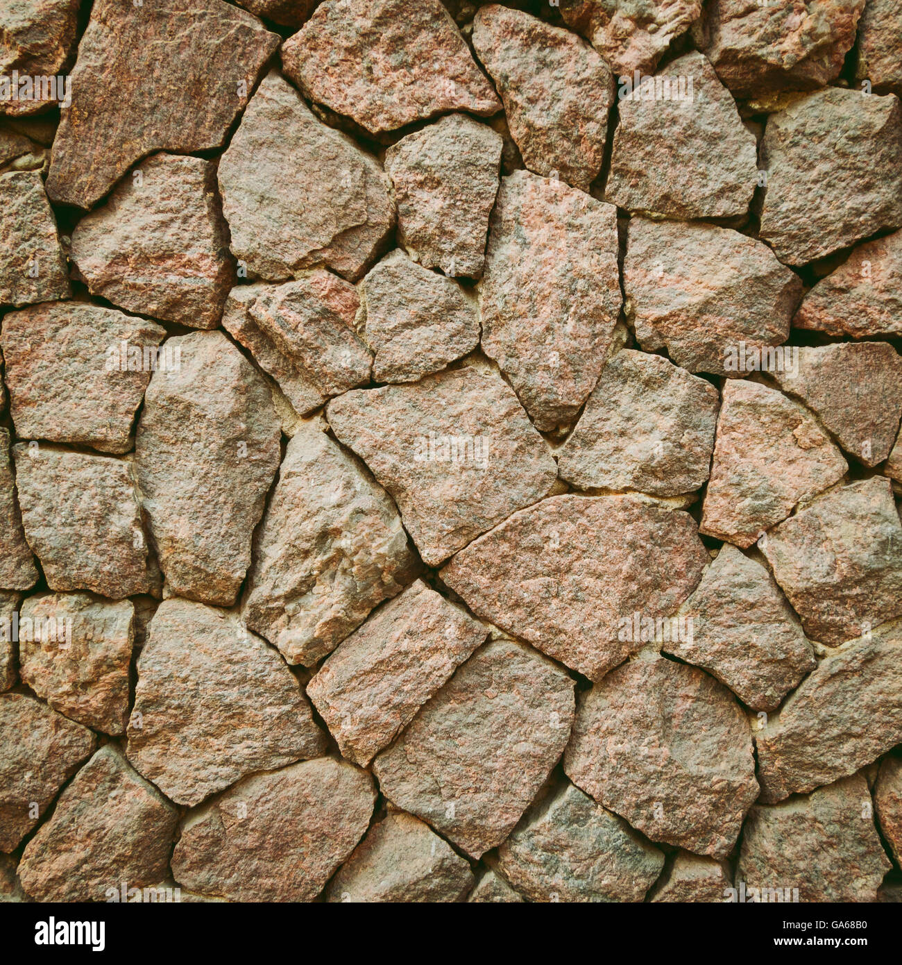 Wall from stones textured. Monotone colours. - Stock Image