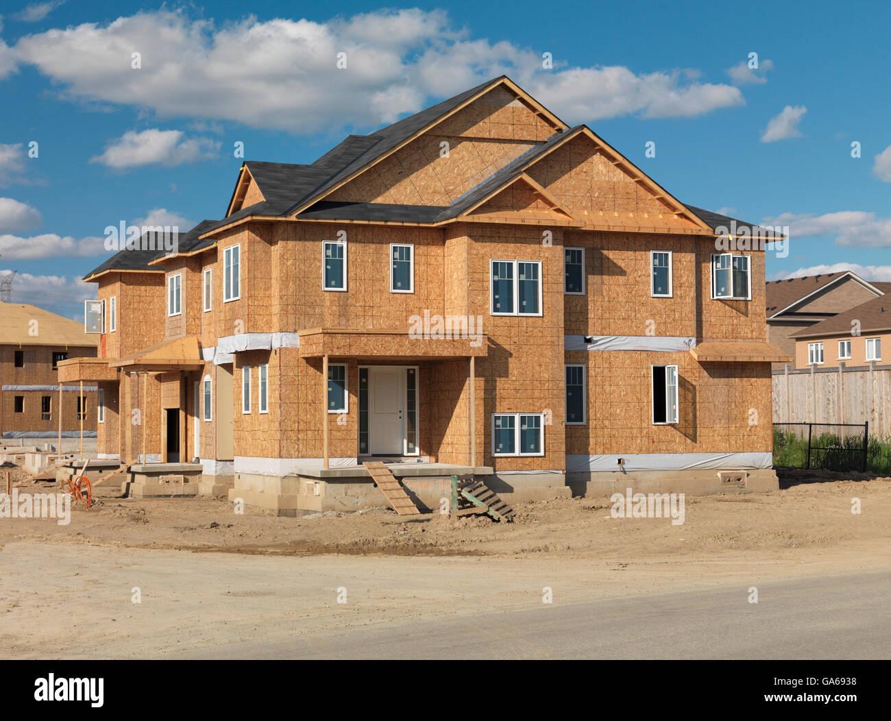 Milton ontario canada stock photos milton ontario canada for How to frame a two story house