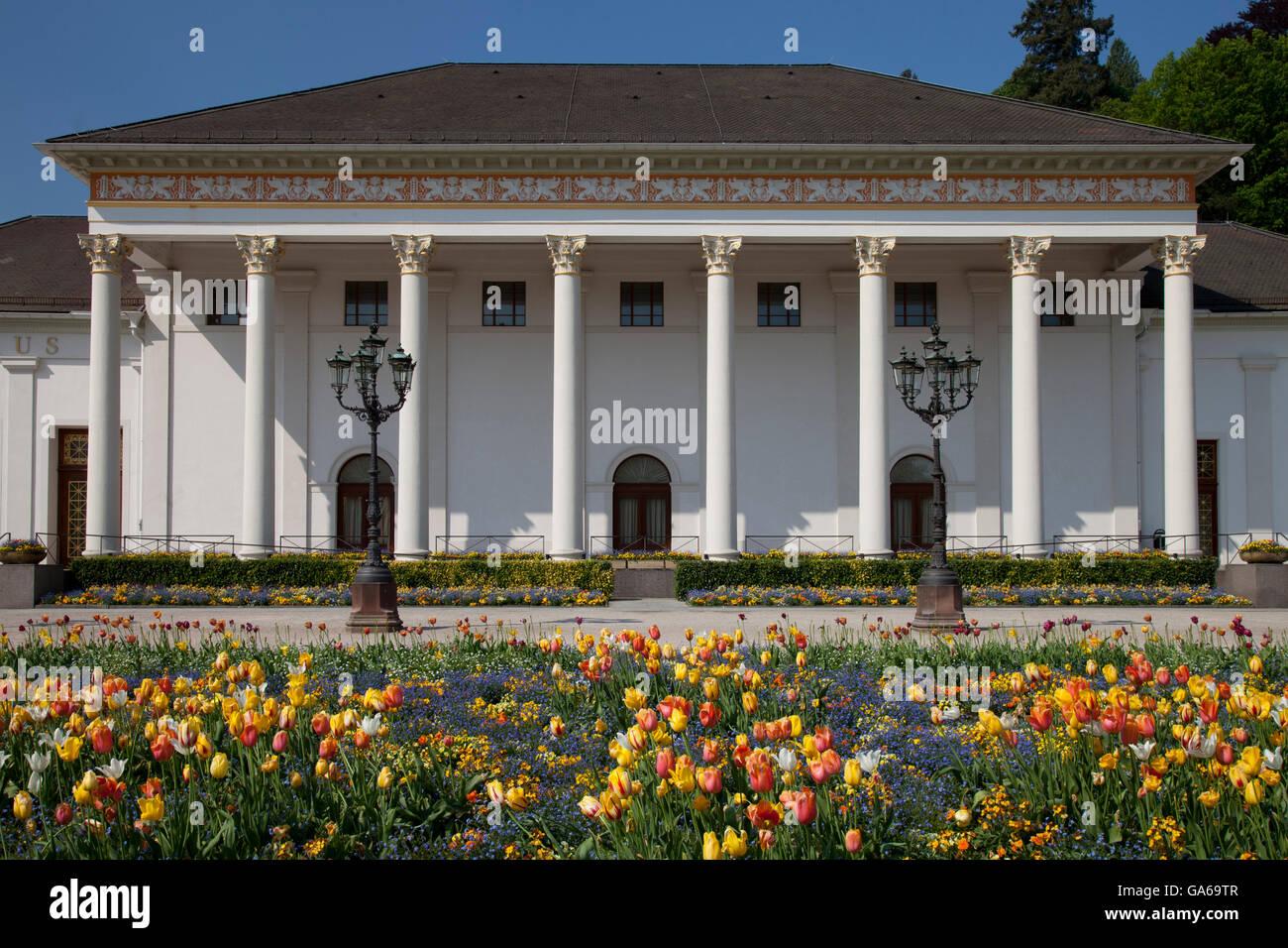 Casino, Kurhaus spa resort, Kurpark spa gardens, Baden-Baden, Black Forest mountain range, Baden-Wuerttemberg Stock Photo