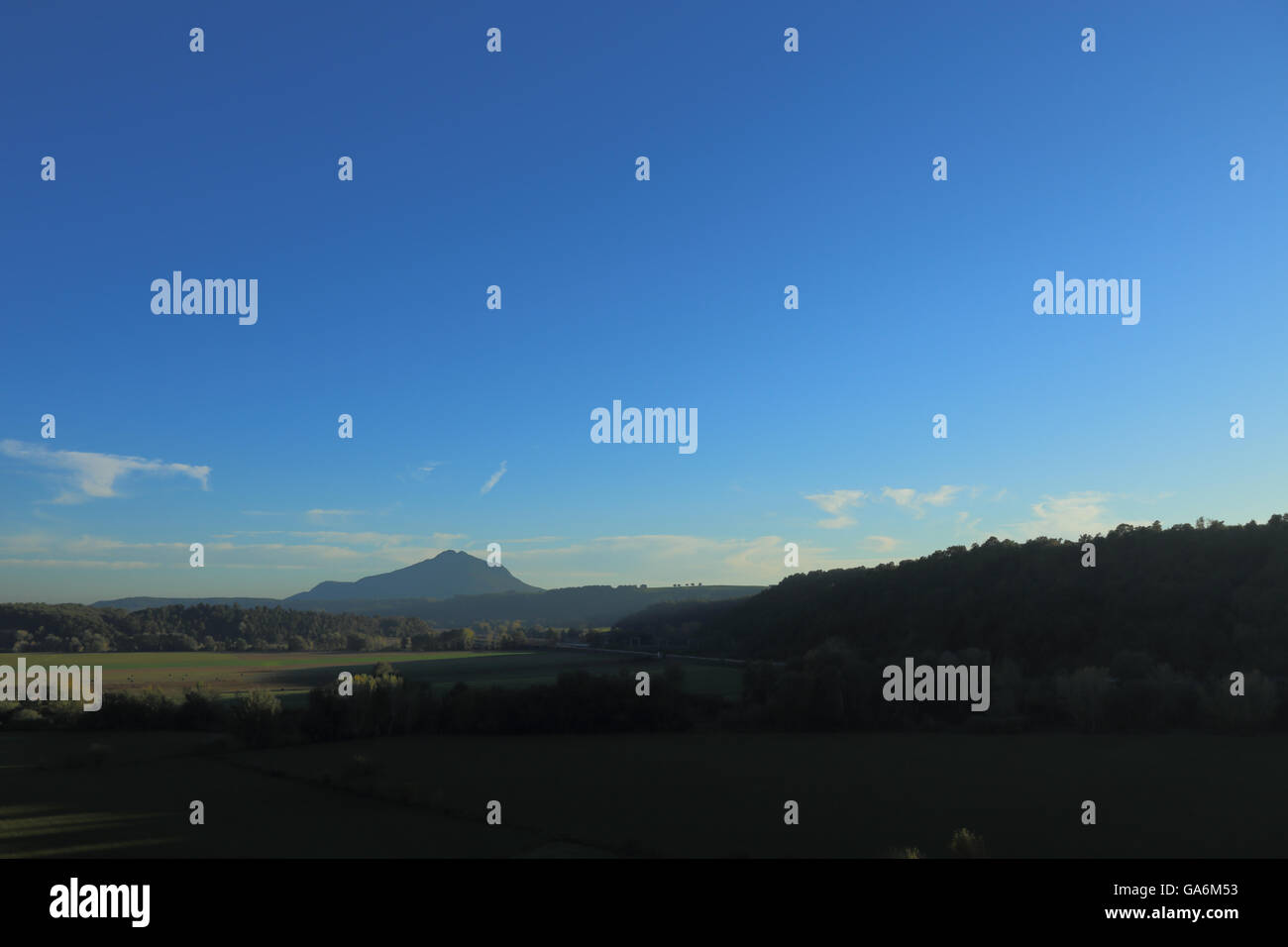 Panoramic view over Mount Soratte - Stock Image