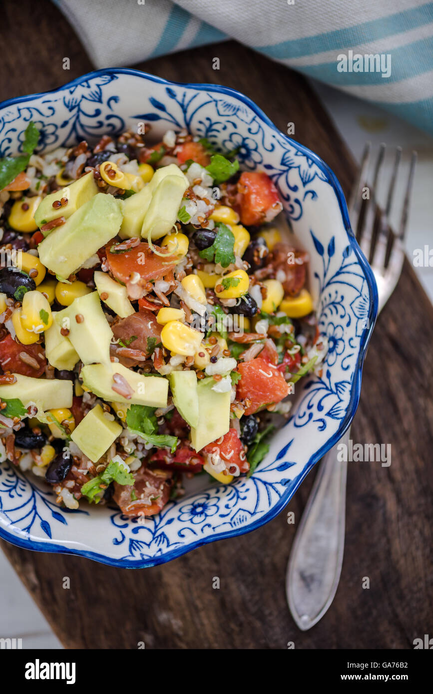 mexican style superfood salad, dieting or healthy eating - Stock Image