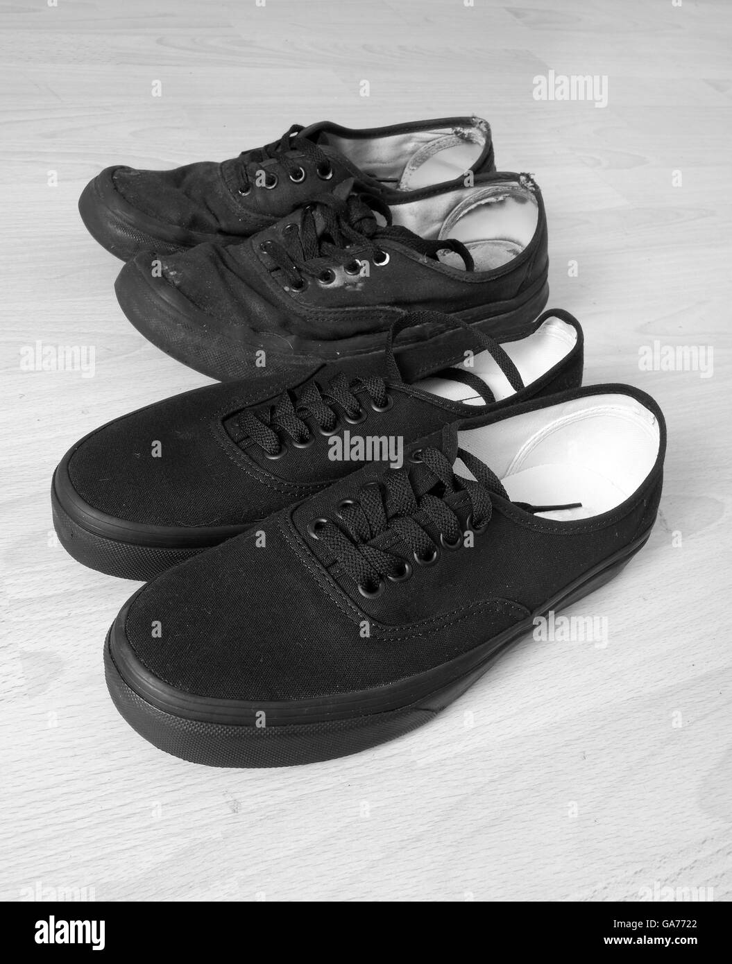 8674d030b12400 Trainers Black and White Stock Photos   Images - Alamy