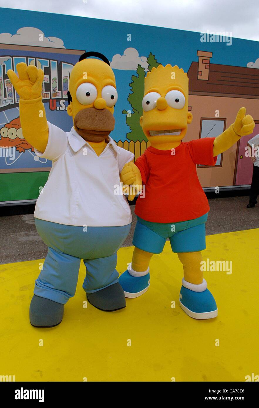 The Simpsons Movie Uk Premiere London Stock Photo Alamy