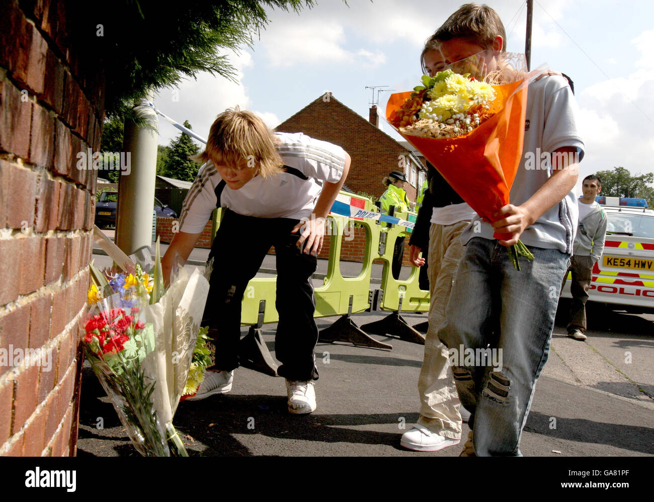Three dead after firearms incident Stock Photo