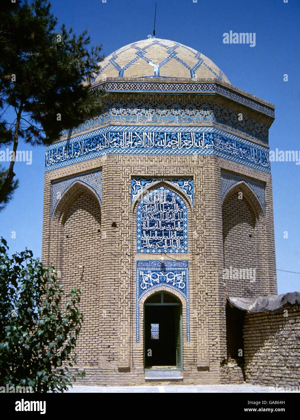 Hexagonal mausoleum of Emamzadeh Jafar (Ja'far ibn Abī Tālib), companion of Mohammad. 1325. Isfahan. Iran. - Stock Image