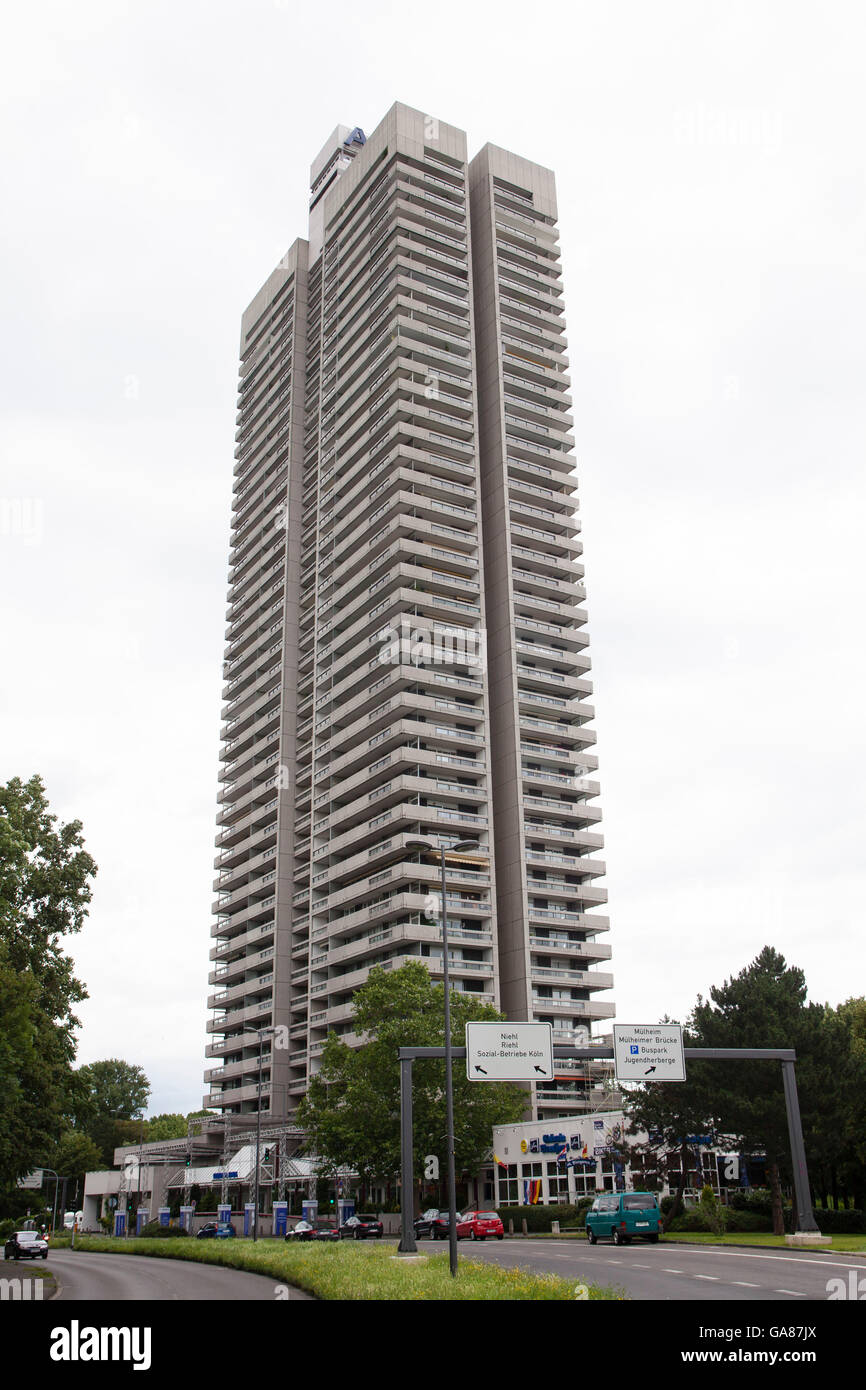 Europe, Germany, North Rhine-Westphalia, Cologne, the skyscraper Colonia-House in the district Riehl. Stock Photo
