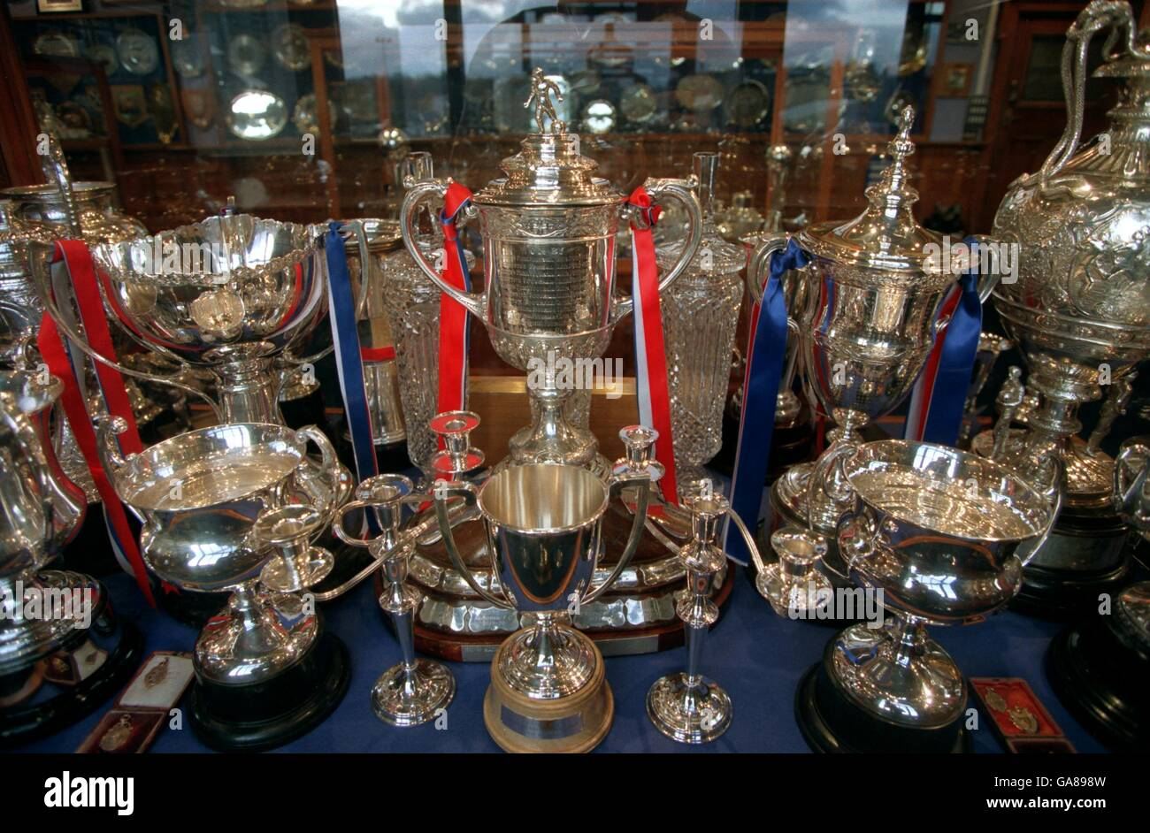 Scottish Soccer Rangers Trophy Room Stock Photos