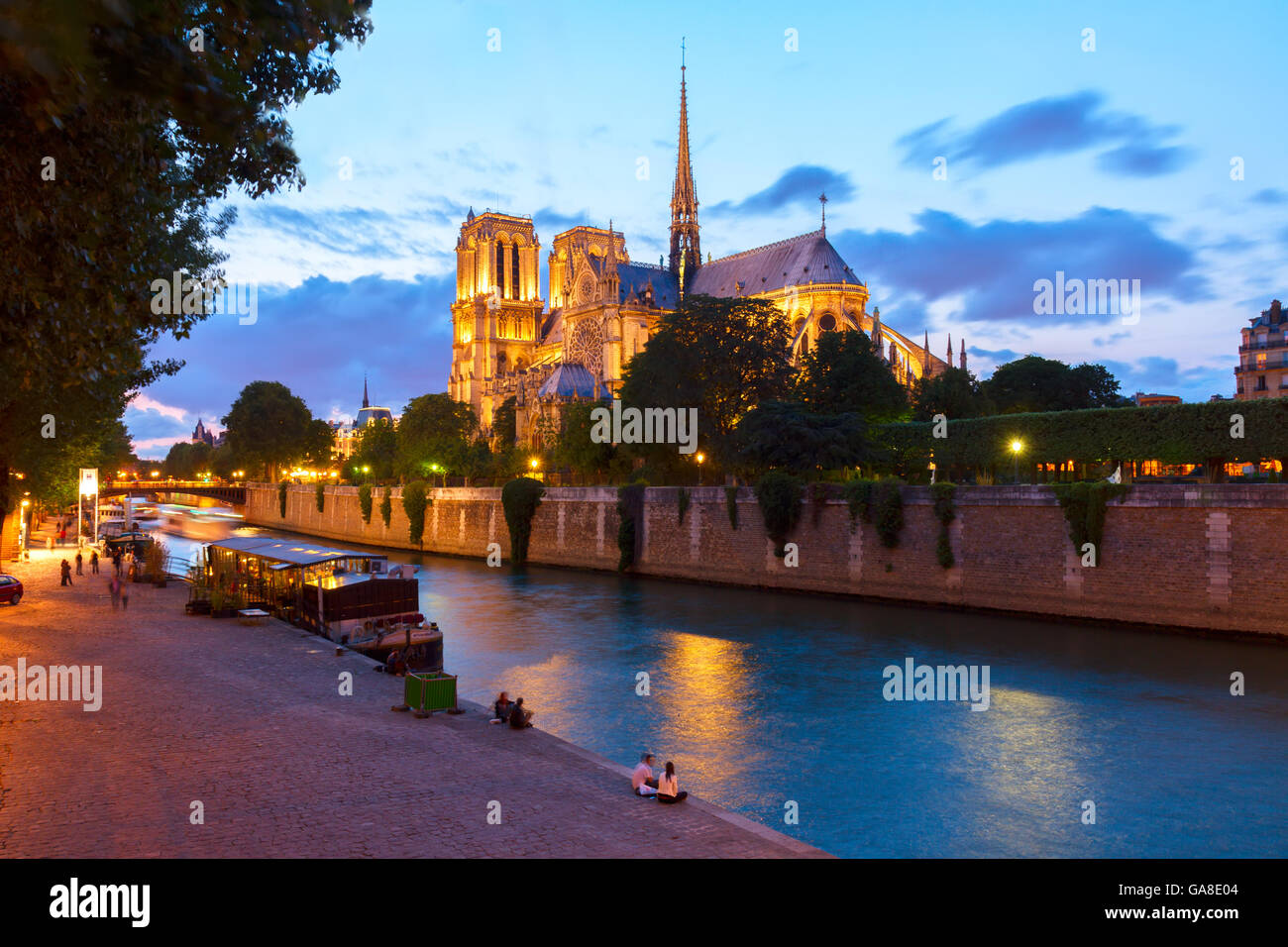 Notre Dame cathedral, Paris France - Stock Image