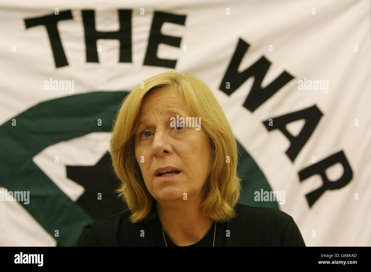 Sheehan launches Iraq solidarity coalition in the UK Stock Photo