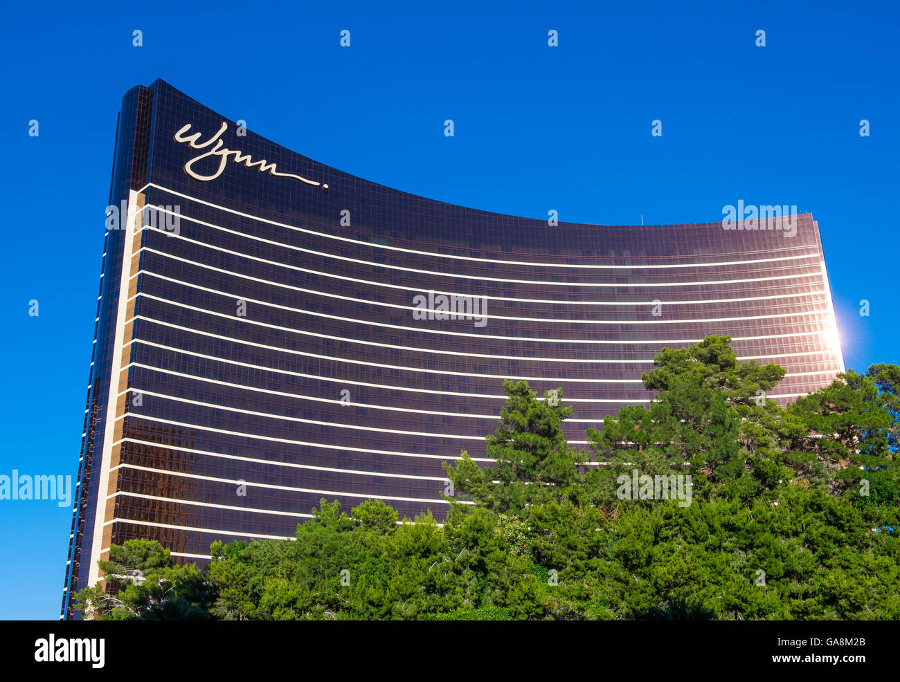 LAS VEGAS - MAY 21 : The Wynn Hotel and casino on May 21 , 2016 in Las Vegas. The hotel has 2,716 rooms and opened - Stock Image