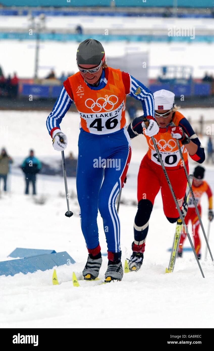 Larisa Lazutina 7 Olympic medals