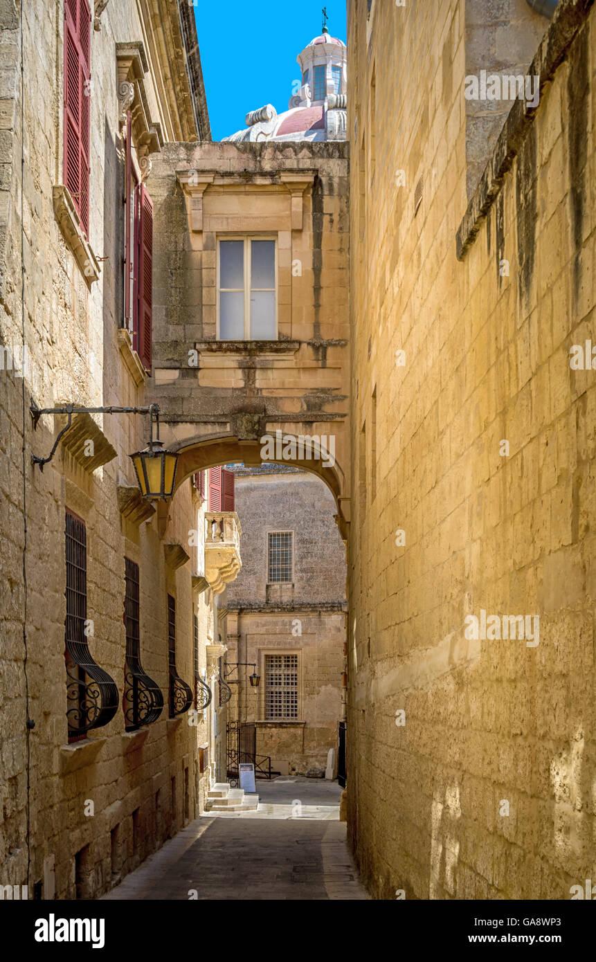 Malta - Historic architecture of Mdina - Stock Image