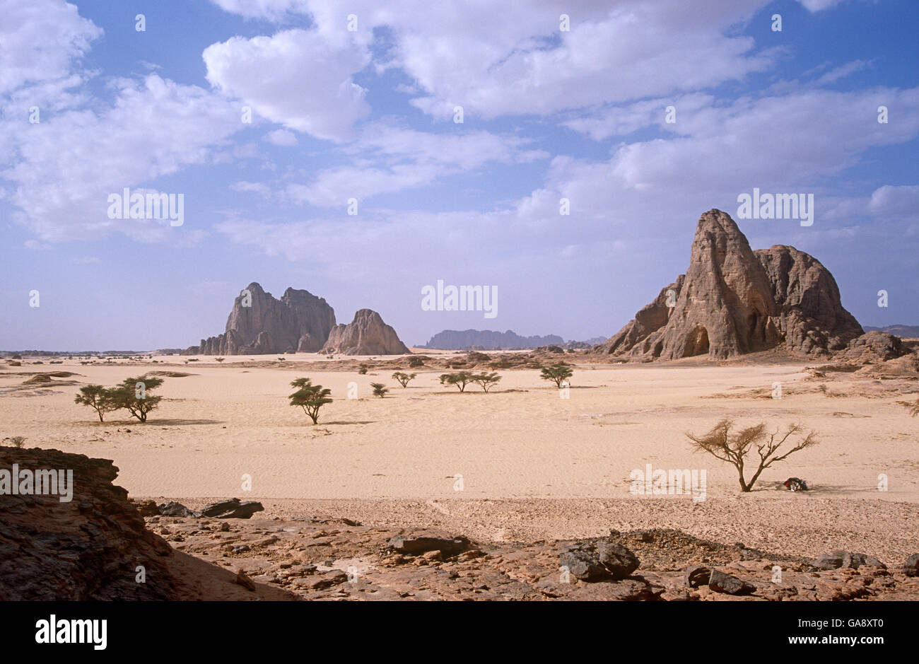 Rocky landscape of northern Niger, 2005. - Stock Image