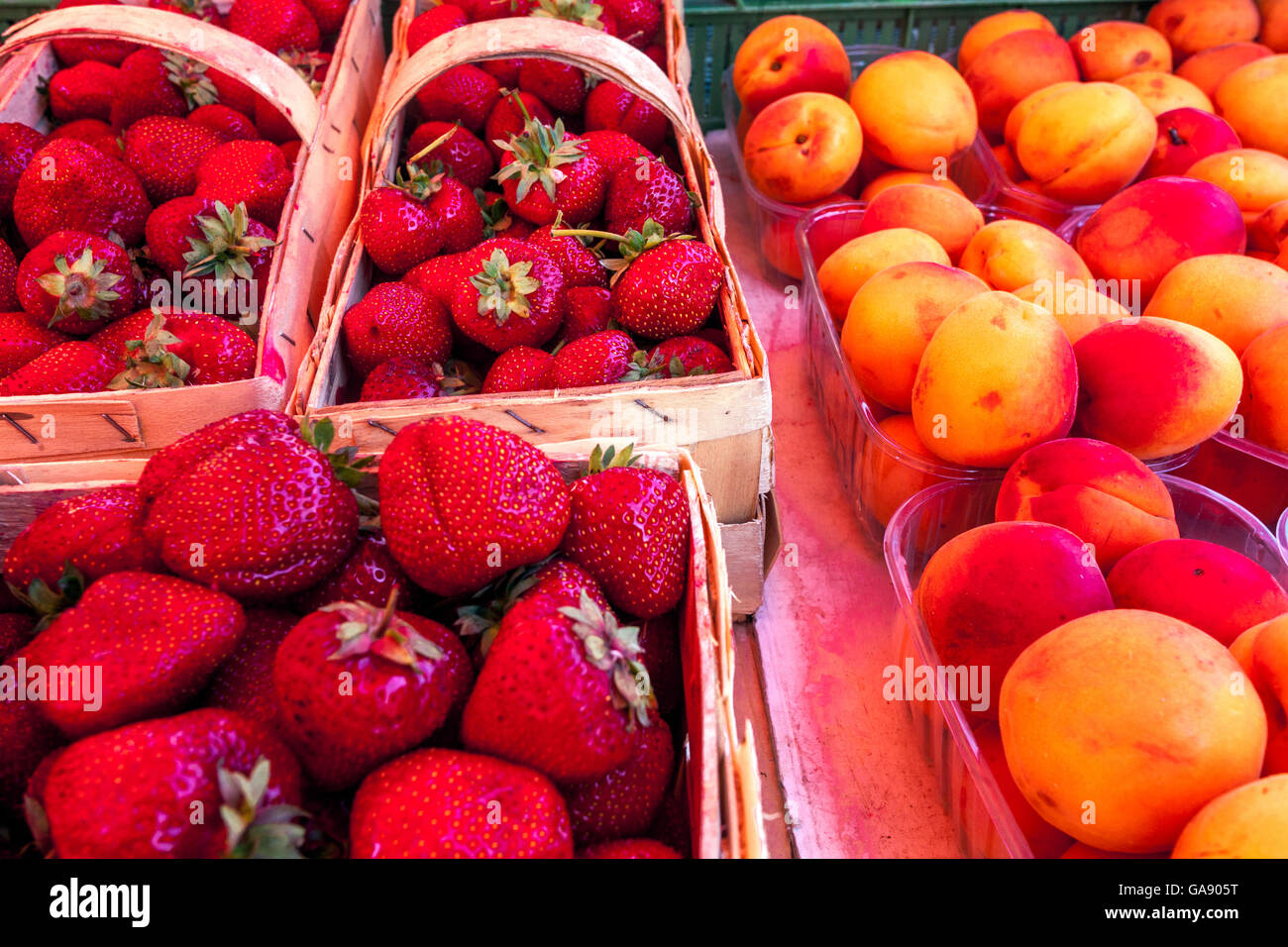 strawberry, apricot - Stock Image
