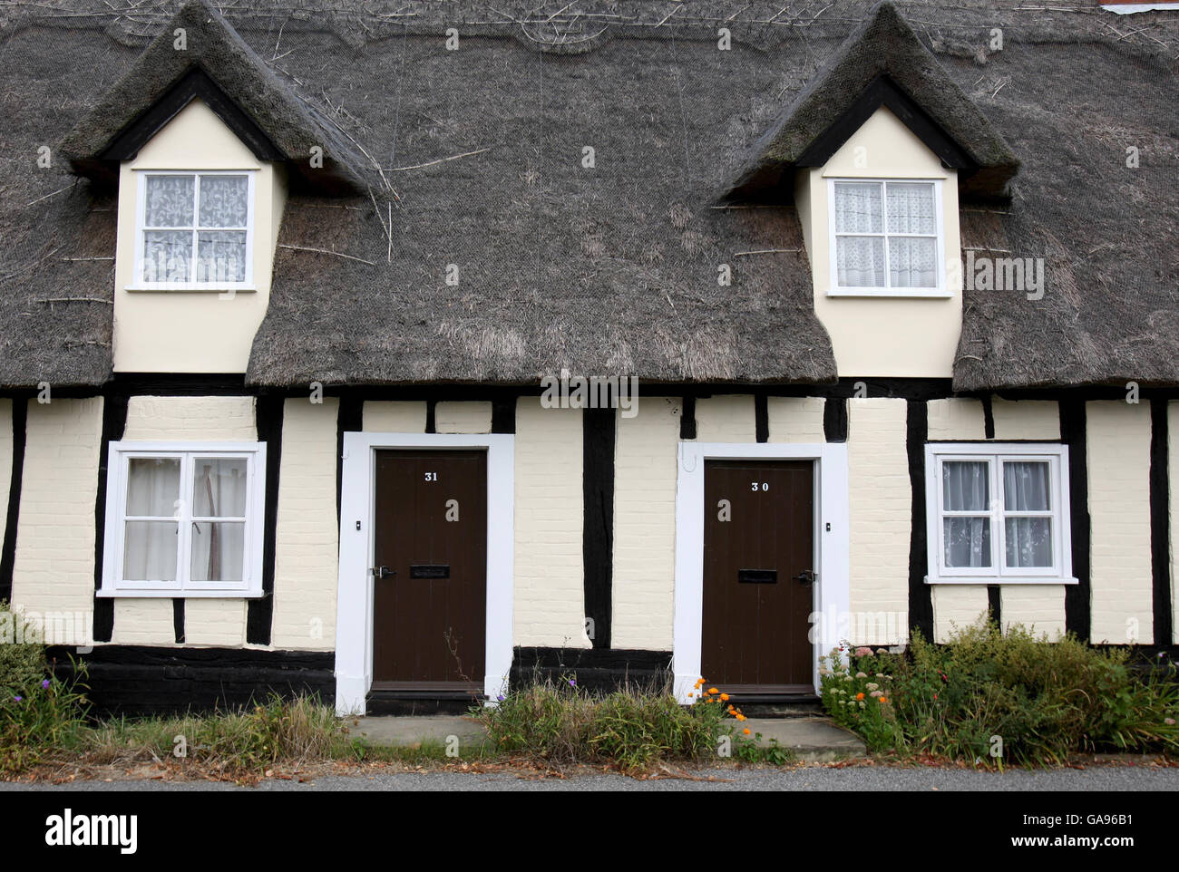 Oldest council houses in the country to be sold off - Stock Image