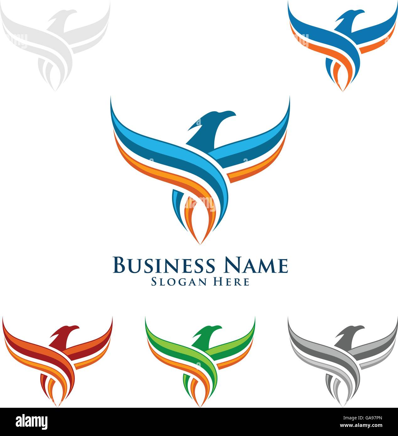 Eagle fly logo design vector of eagle bird falcon hawk eagle fly logo design vector of eagle bird falcon hawk isolated on a white background biocorpaavc Gallery
