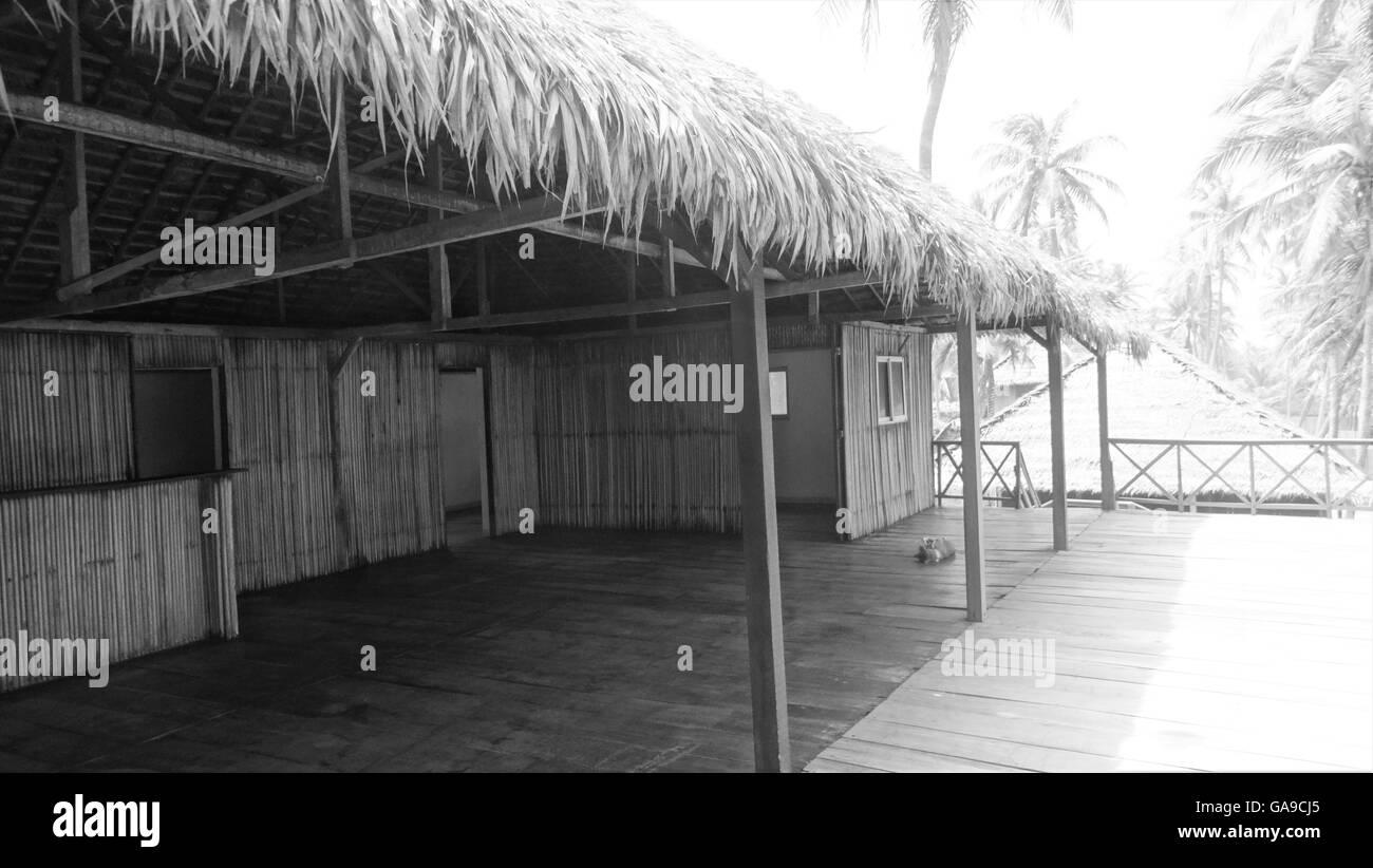 Beautiful Beach House - Stock Image