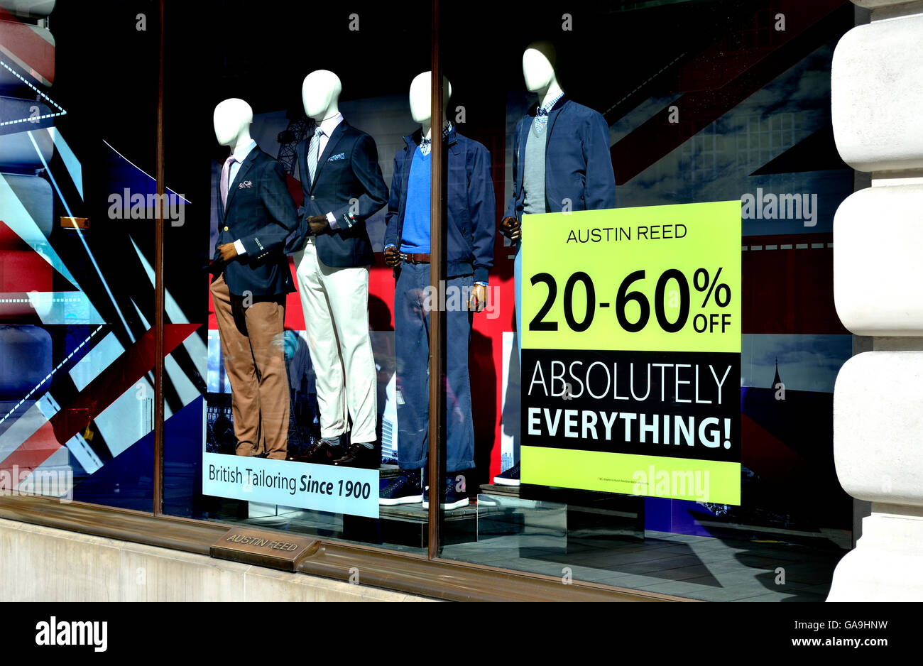 London England Uk Sale In Austin Reed Clothes Shop Stock Photo Alamy