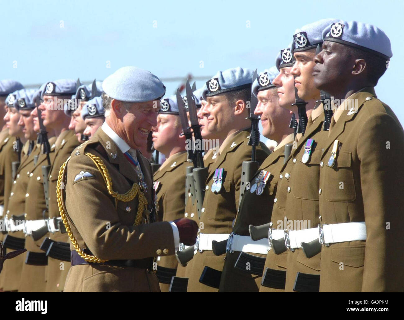 The Prince of Wales attends the Army Air Corps' golden jubilee Stock Photo
