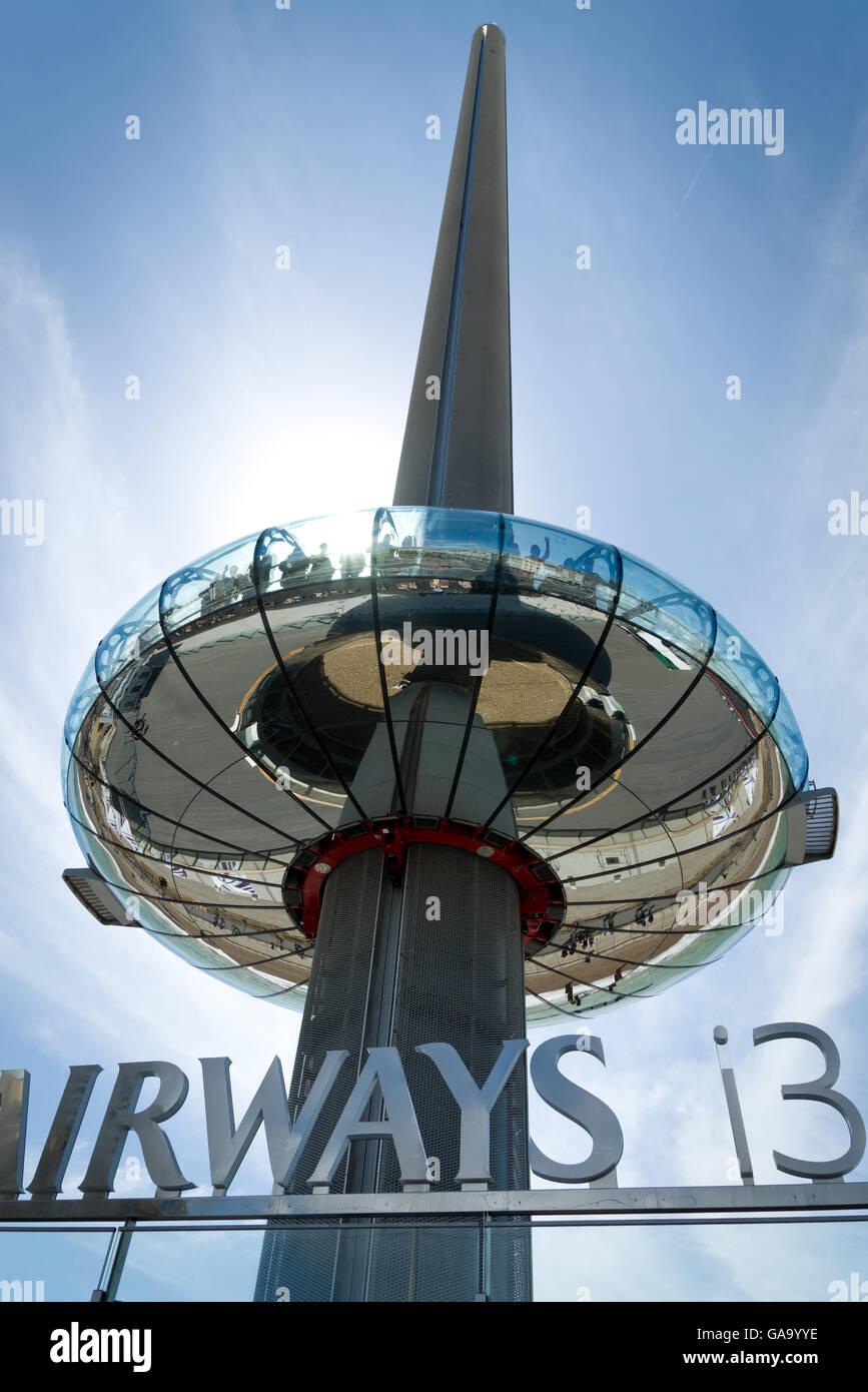 Brighton, UK. 04th Aug, 2016. Launch day of the British Airways 360i in Brighton, UK. The world's slenderest - Stock Image