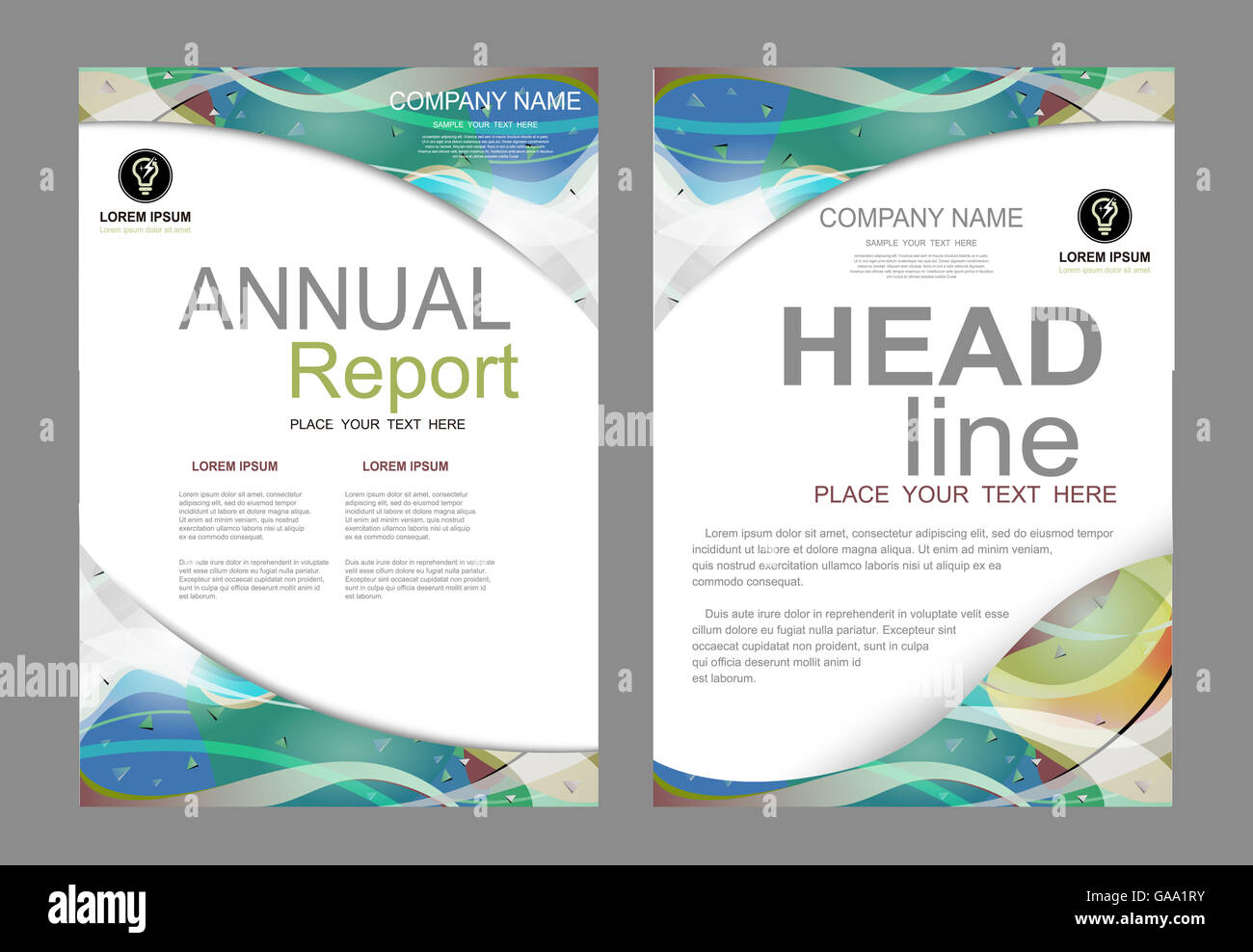 cover, design, annual, layout, flyer, book, ad, page, vector, poster, leaflet, booklet, blank, banner, business, - Stock Image
