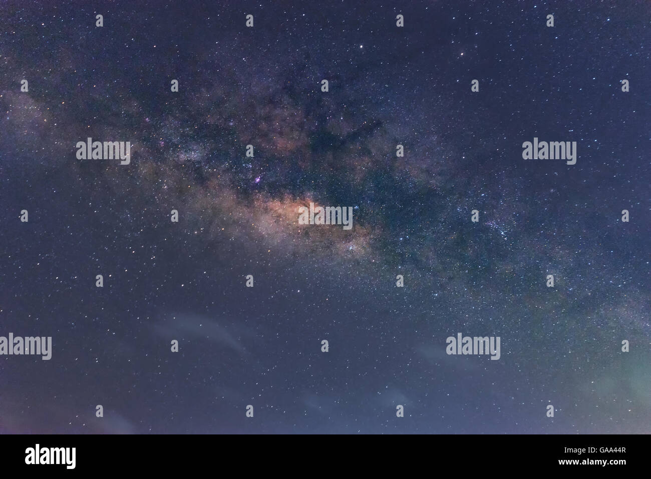 close up milkway on sky - Stock Image
