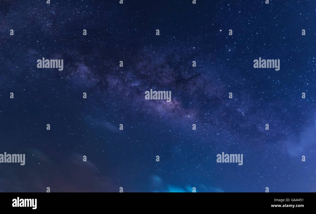 galaxy milky way and star on sky - Stock Image