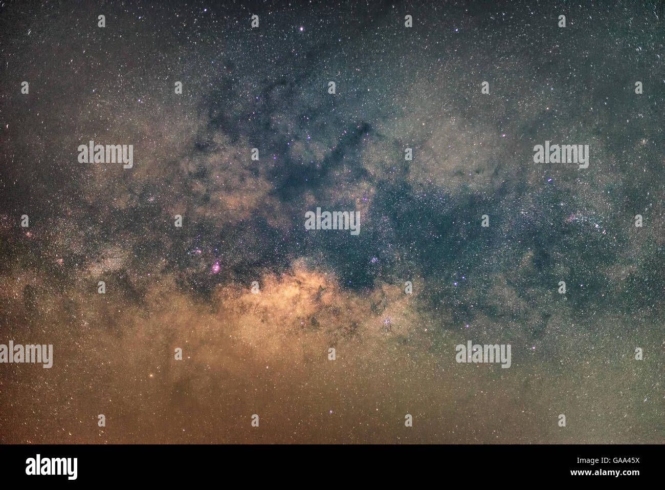 Close-up of Milky Way,Long exposure photograph - Stock Image