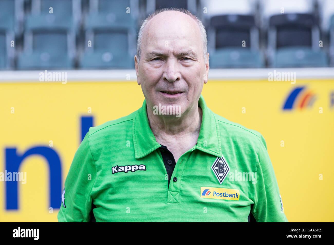German Bundesliga - Season 2016/17 - Photocall Borussia Moenchengladbach on 1 August 2016 in Moenchengladbach, Germany: - Stock Image