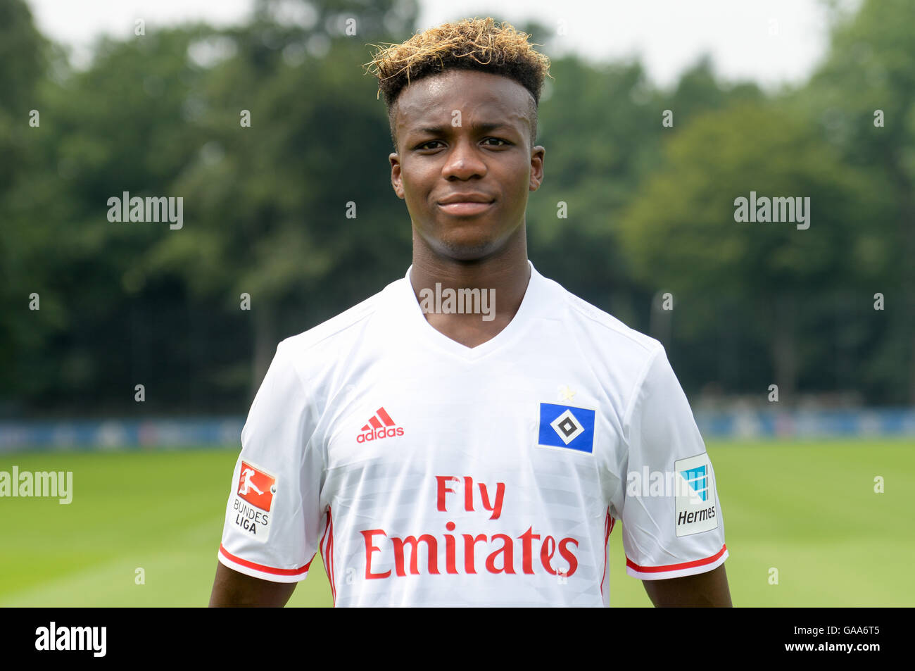 German Bundesliga - Season 2016/17 - Photocall Hamburger SV on 25 June 2016 in Hamburg, Germany: Gideon Jung. Photo: - Stock Image