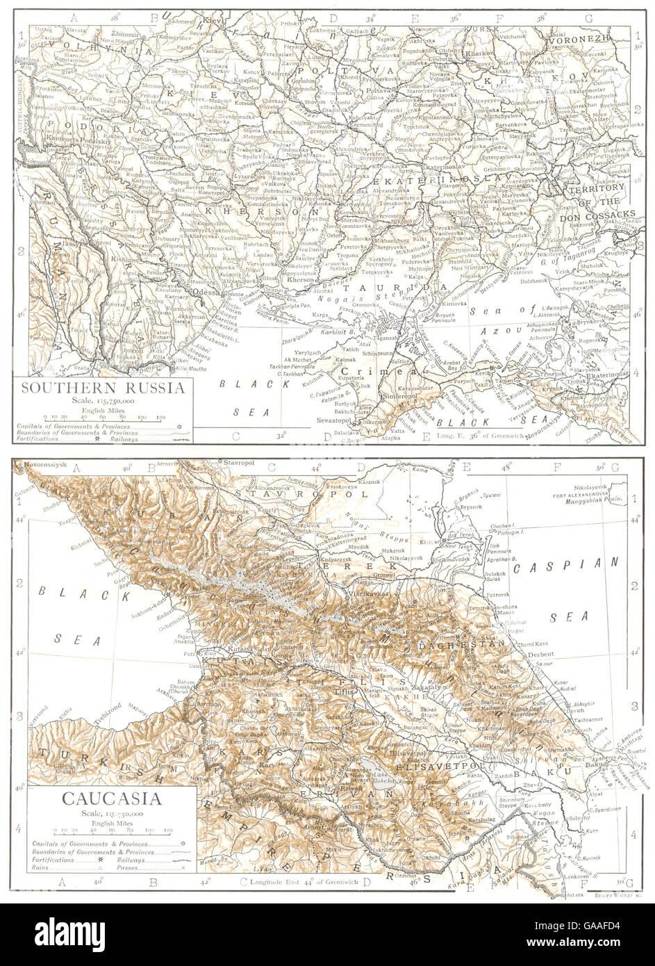 Map Of Georgia Southern.Ukraine Caucasia Georgia Southern Russia Azerbaijan 1910 Antique