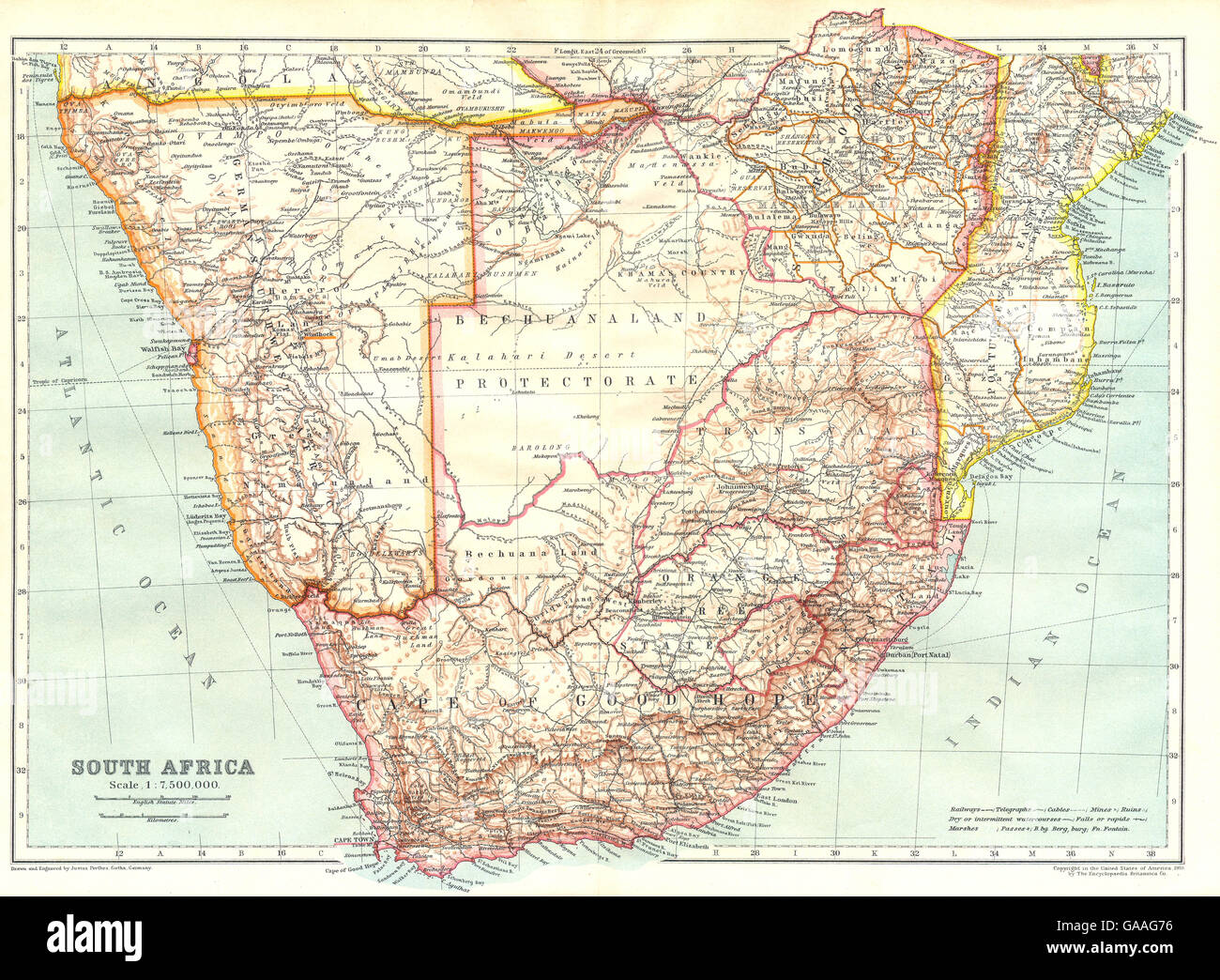 Namibia On Africa Map.Southern Africa South Africa Namibia Botswana Mozambique Rhodesia