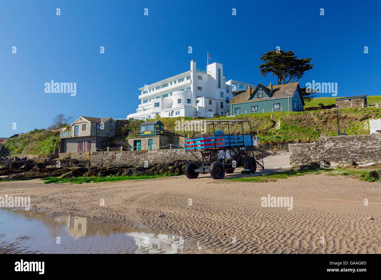 Burgh island hotel sea tractor stock photos burgh island for Art deco hotel devon