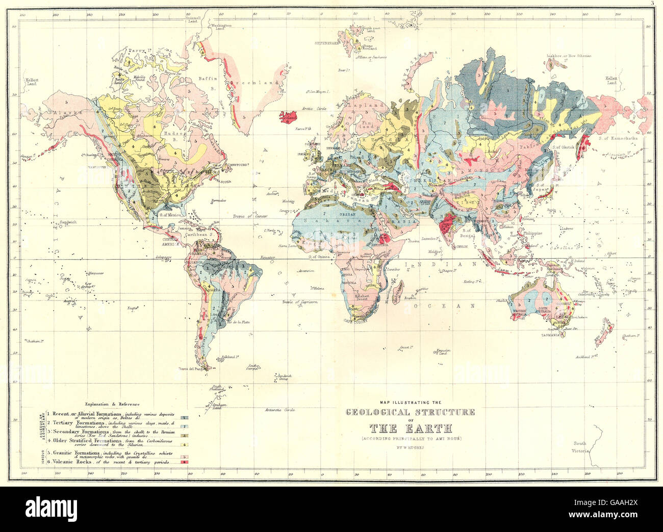 Geological Map Of World Stock Photos Geological Map Of