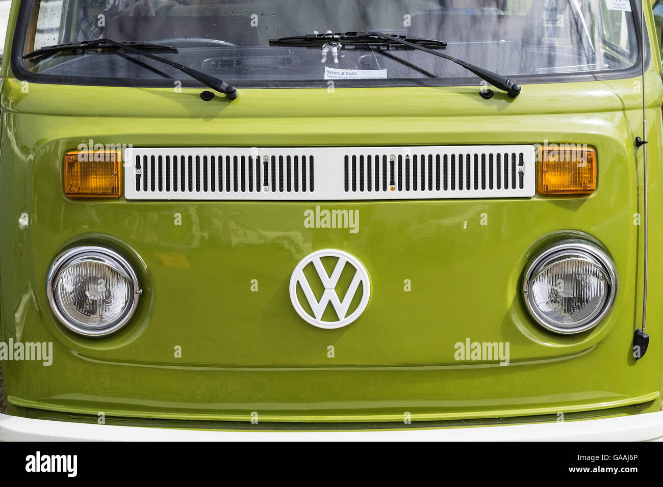 The Front Of A Classic Volkswagen Camper Van T2 Stock Photo Alamy