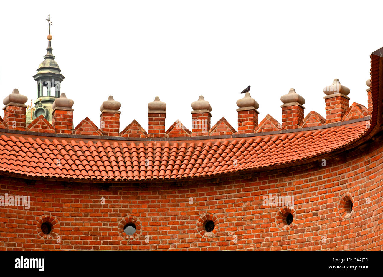 Barbican fortification Warsaw Poland - Stock Image