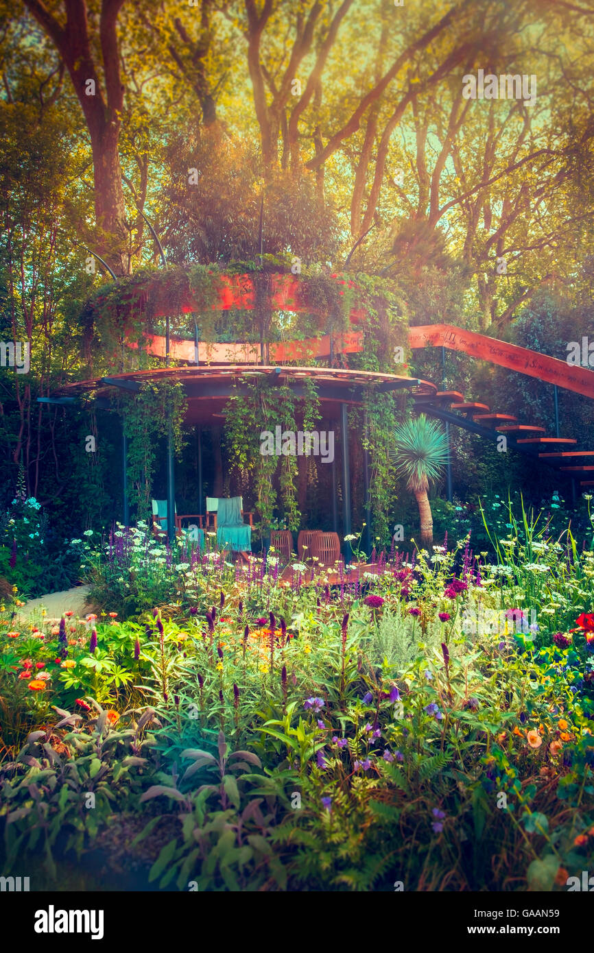 The Winton Beauty of Mathematics Garden at the RHS Chelsea flower show, London, UK. Stock Photo