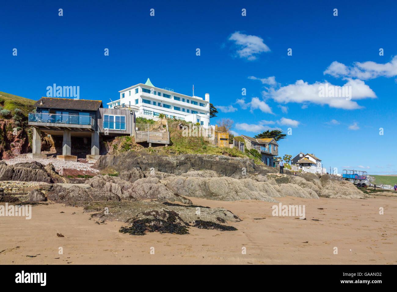 Burgh island devon stock photos burgh island devon stock for Art deco hotel devon