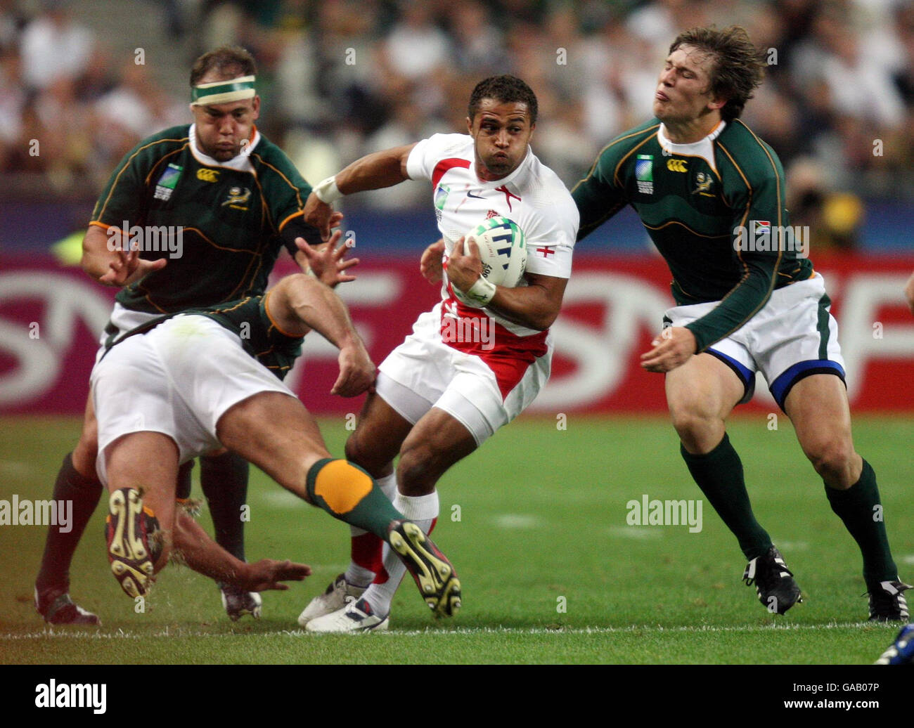 Jason Robinson during the Rugby World Cup Pool A match with South Africa at the Stade de France, Paris, Friday September - Stock Image