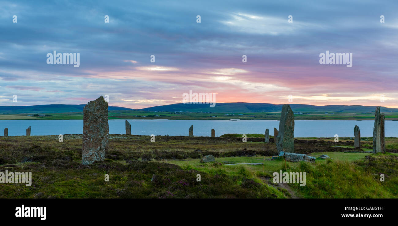 Standing stones of Orkney - Stock Image