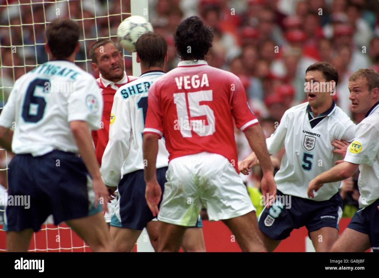 Soccer - Euro 96 - Group One - England v Switzerland - Wembley Stadium - Stock Image