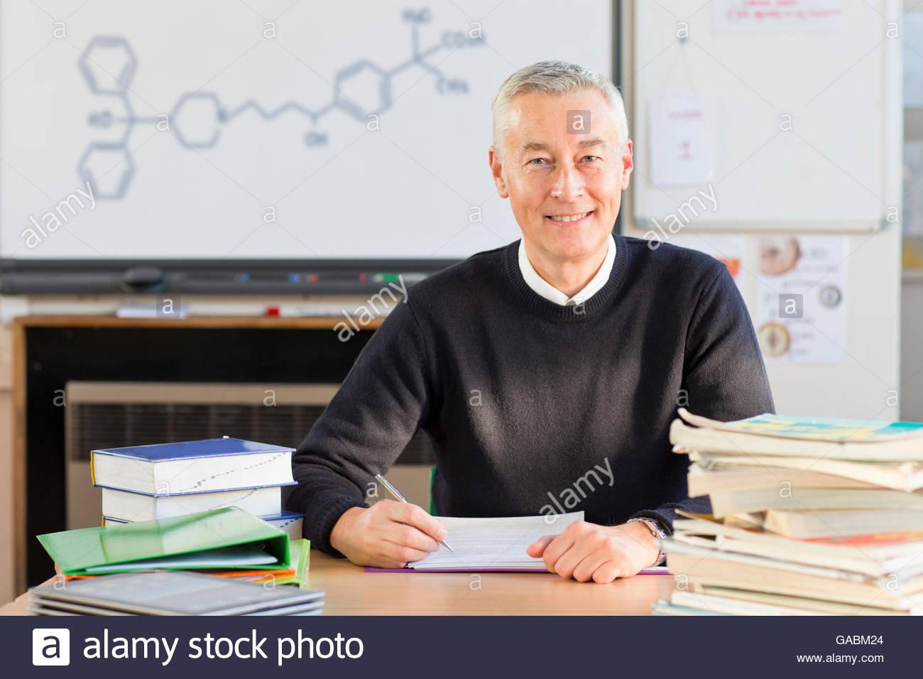 teacher grading homework stock photos teacher grading homework