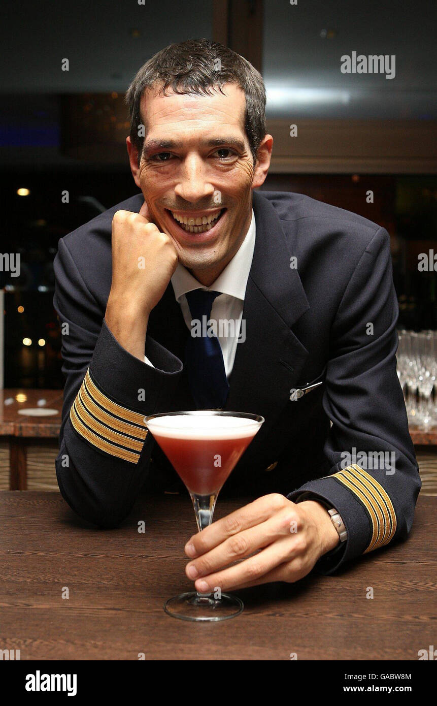 Ocean Sky Cocktail launch - London - Stock Image