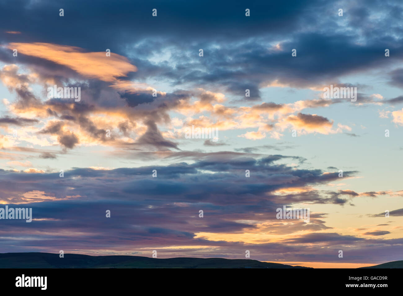 Prefect dawn sky - Stock Image