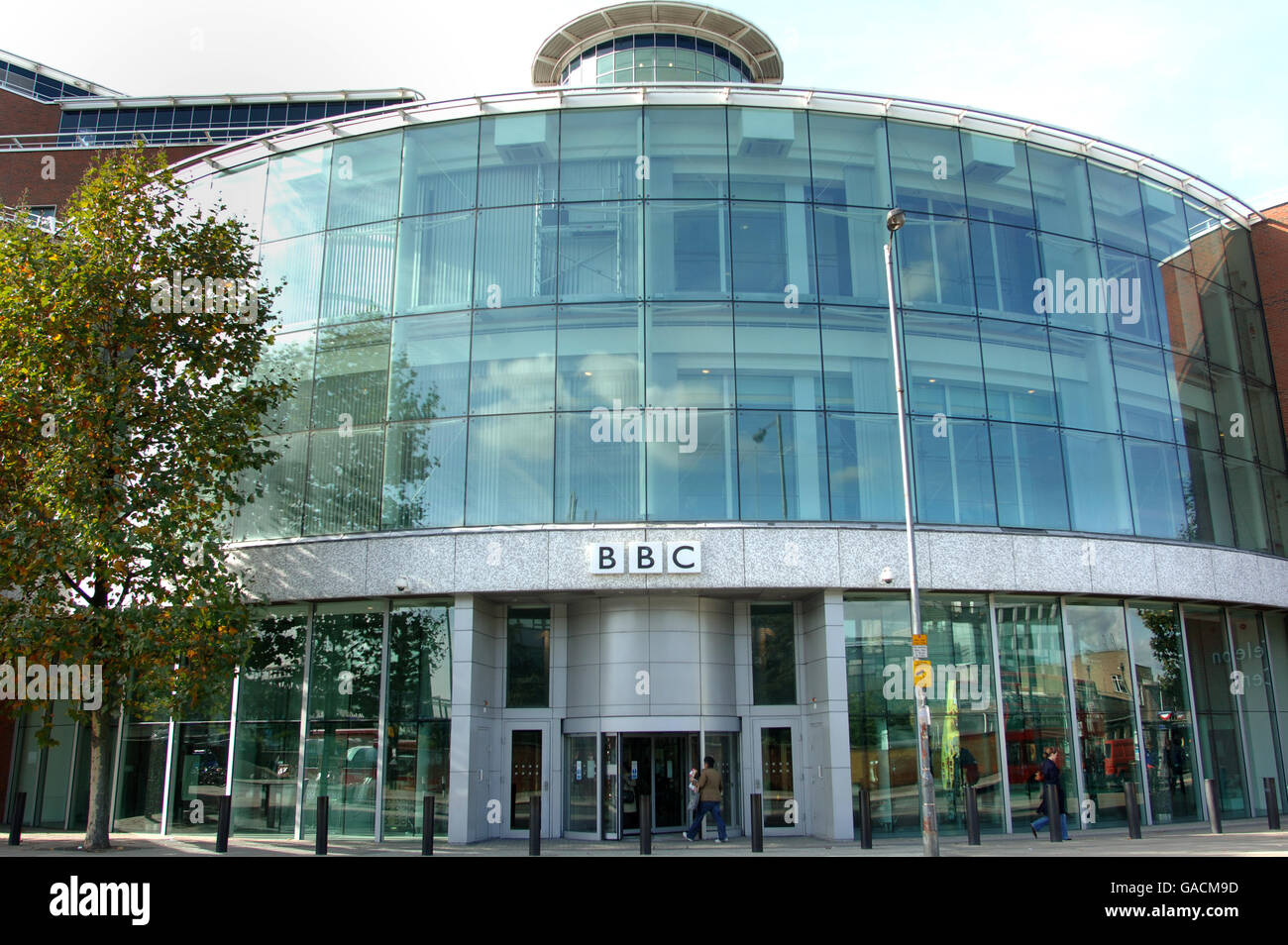 7db20318661 Buildings and Landmarks - BBC Television Centre - White City, West London.  - Stock